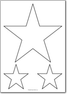 Drawn star printable Printables Christmas shape outline pattern