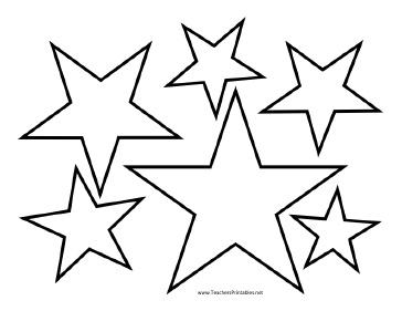 Drawn star printable Printable ideas Templates Pinterest star