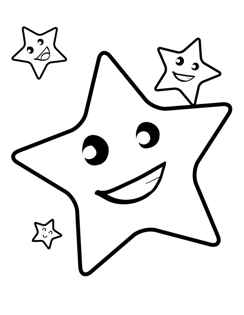 Drawn star printable Star Stars Of com