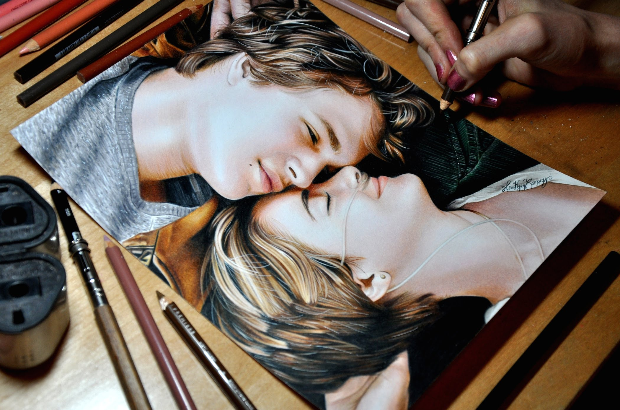 Drawn stare realistic In Stars) Hazel Grace Stars