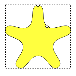Drawn stare rounded Regular Polygons A Stars star