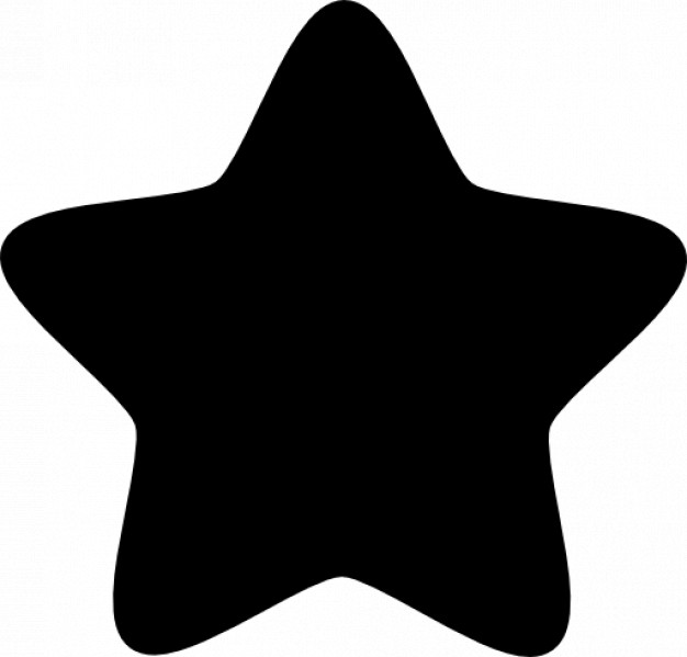 Drawn stare rounded Free points points Free star