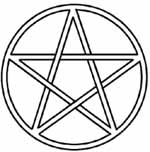 Drawn star satanic  (pentacle pentangle Pentagram pentalpha)