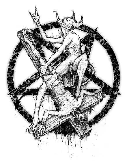 Drawn star satanic  pentagram Pinterest Satan is