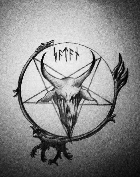 Drawn star satanic Satanic com by satanen by