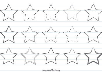 Drawn star scribble Scribble vector CannyPic Free vectors