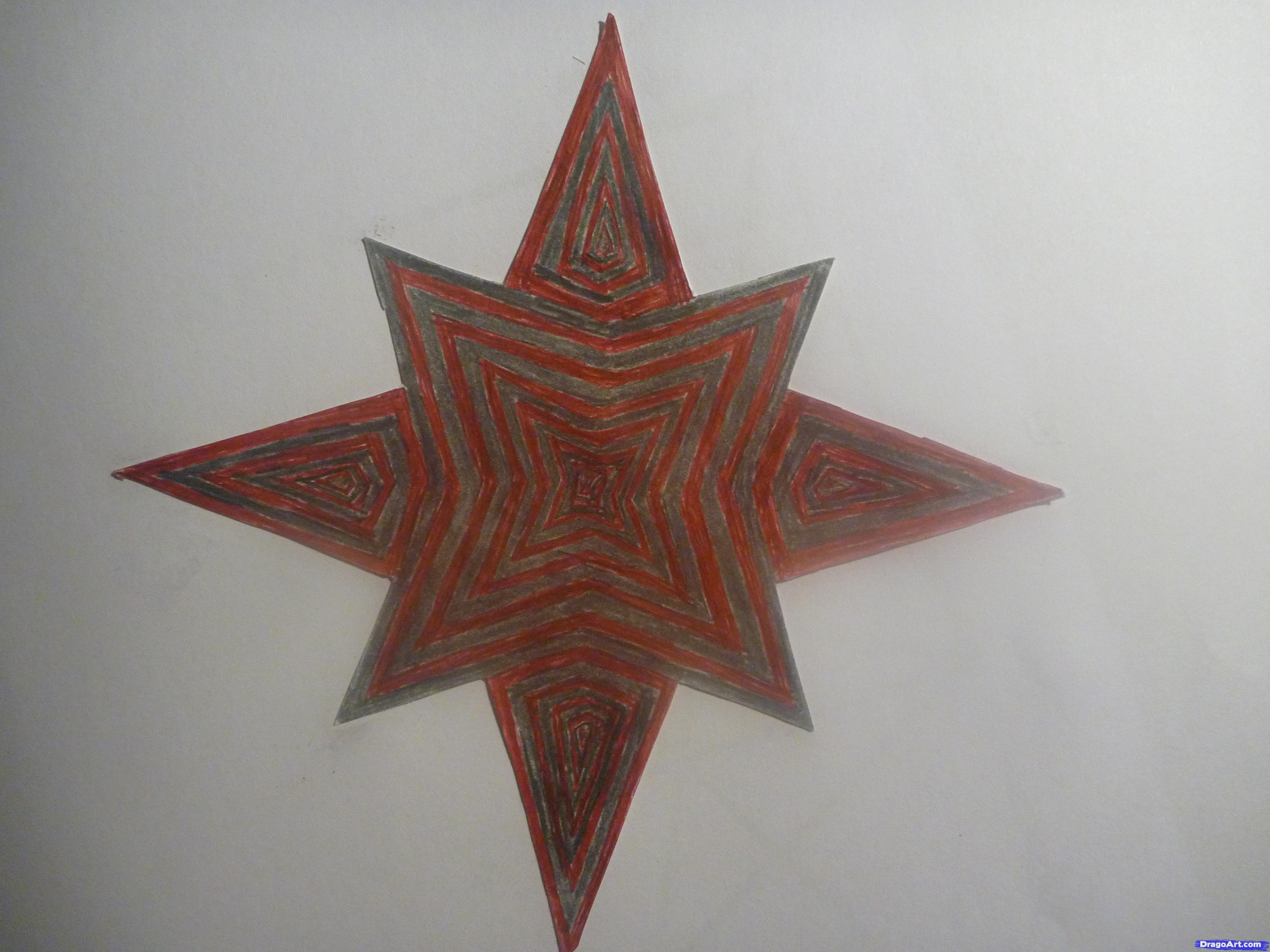 Drawn star sided Draw Eight Pointed Art