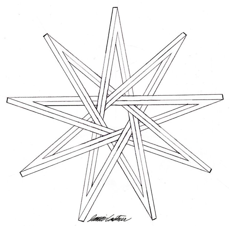 Drawn star sided Star 9 deviantART pointed images