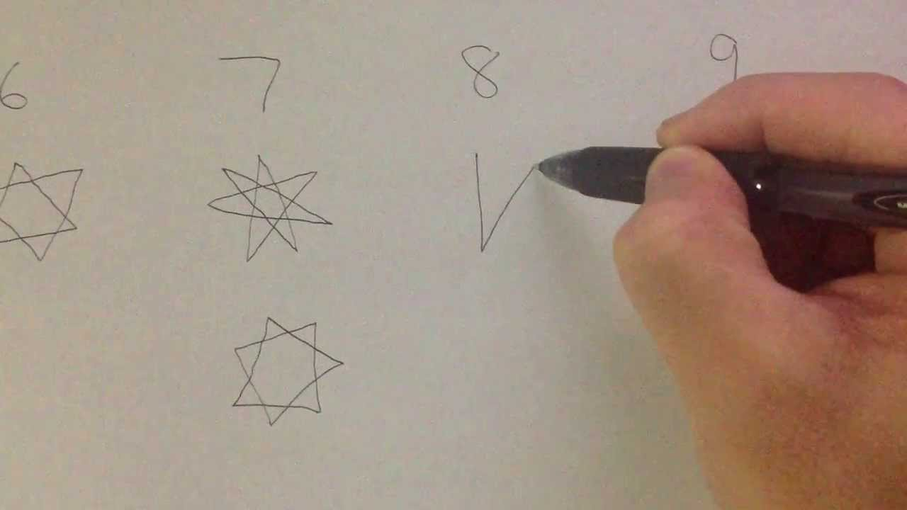 Drawn star sided 8 5 How 6 8