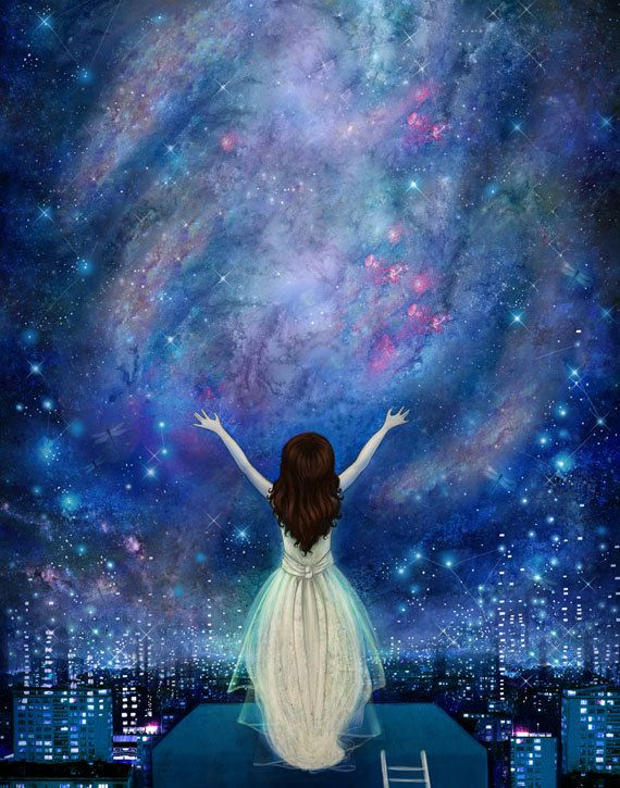 Drawn star sky full Empowerment ideas The painting Best