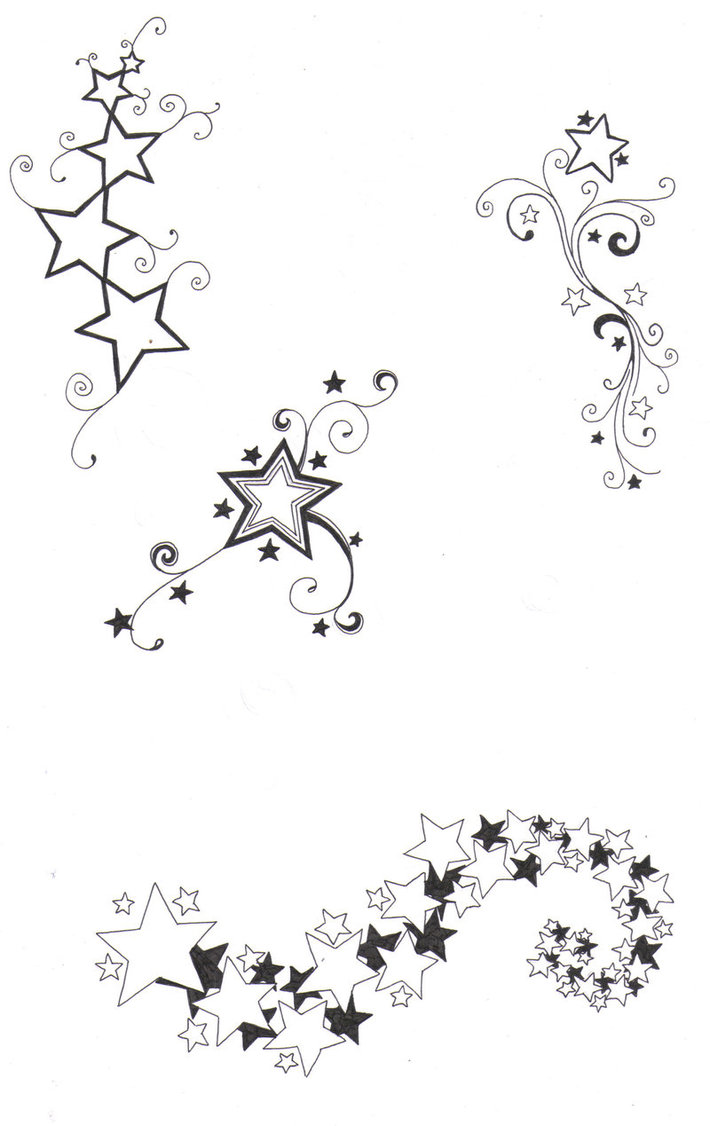 Drawn star small Stars designs  of by