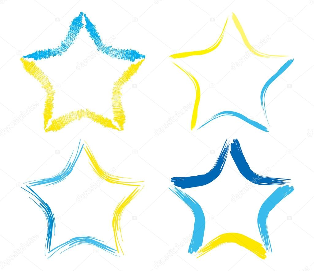 Drawn star small In made star background of