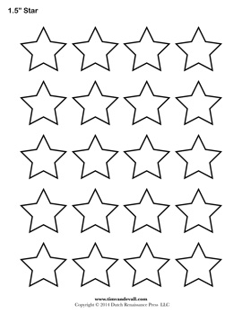Drawn stare template cut out Star Star Free Shape Blank