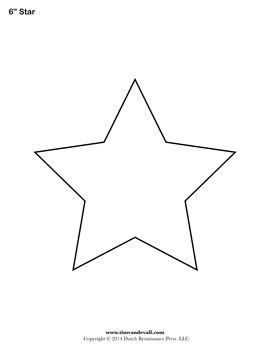 Drawn stare template cut out Shape Free Printable Star Star