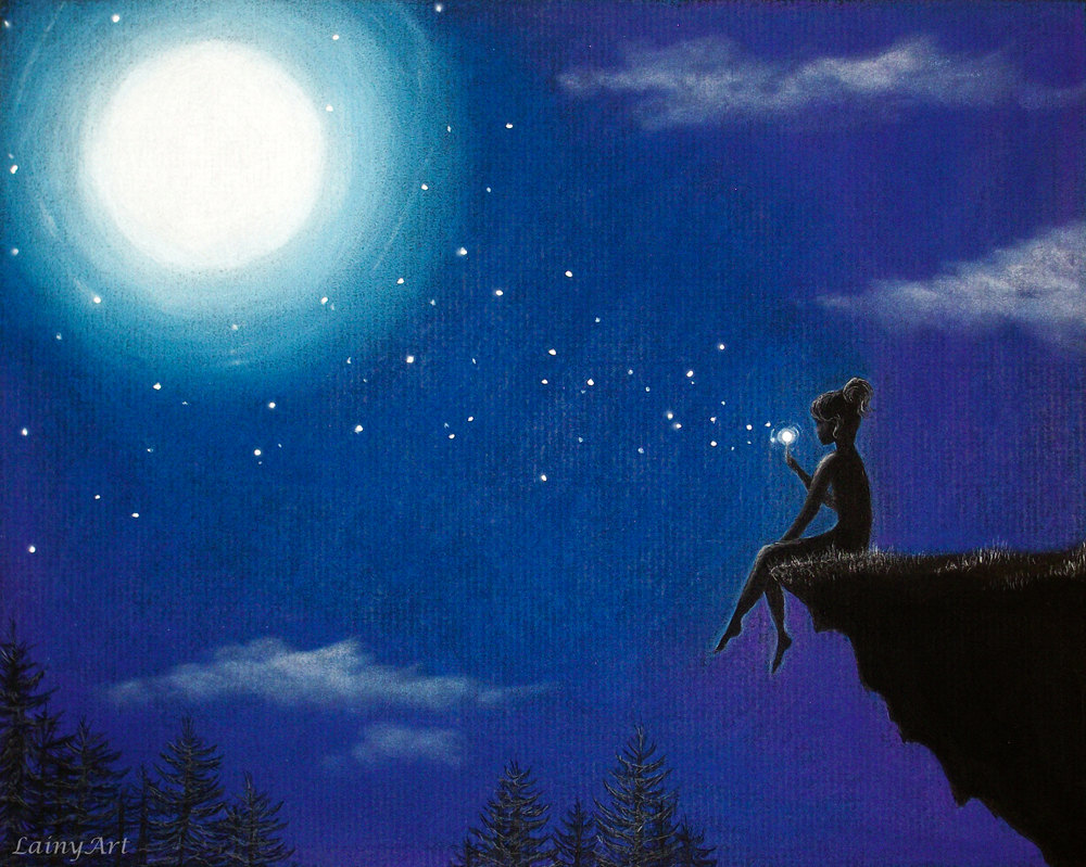 Drawn star the sky drawing Moon fantasy Star Pinterest sky