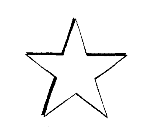 Drawn star transparent pixel File:5 drawing File:5 point star