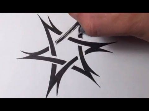 Drawn stare david Tribal tattoo ideas Sketch Tattoo