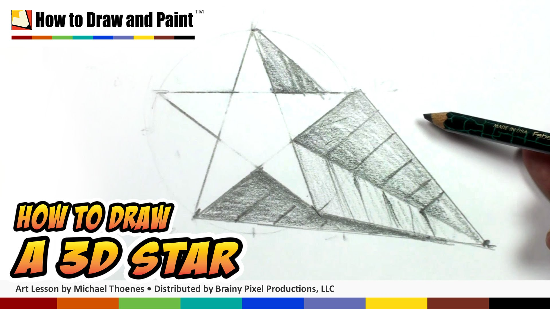 Drawn stare shaded Shape 3D Kids How Star