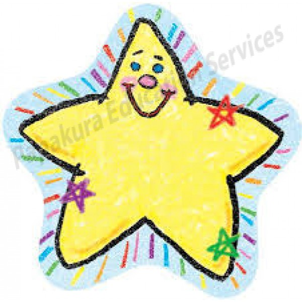 Drawn star two Accents  Two Decoratives Kid