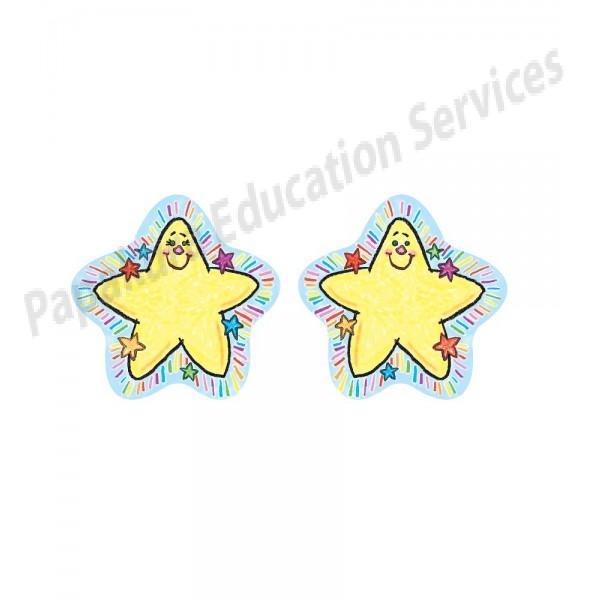 Drawn star two Drawn Sided Star Drawn Decoration