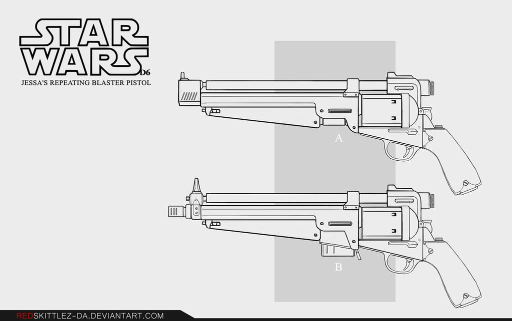 Drawn star wars blaster StarWars  Pistol by Repeating