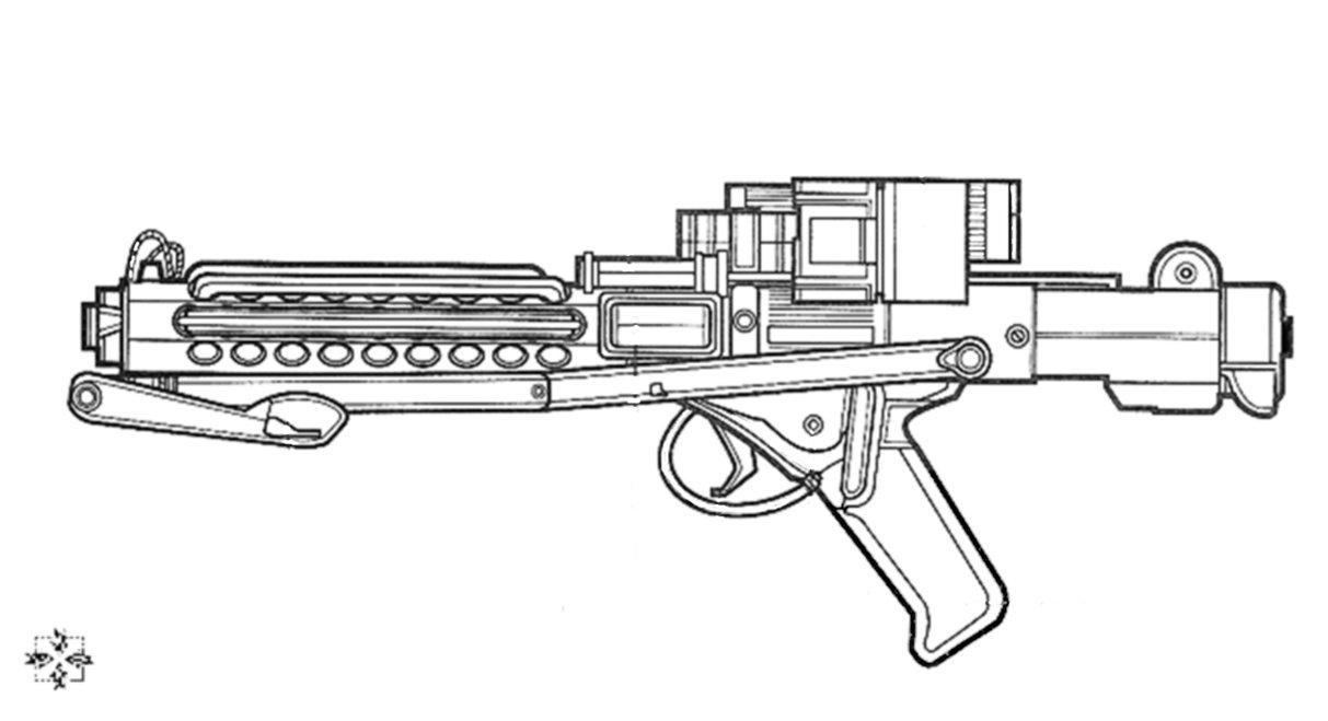 Drawn star wars blaster E by 96blackarrow rifle DeviantArt