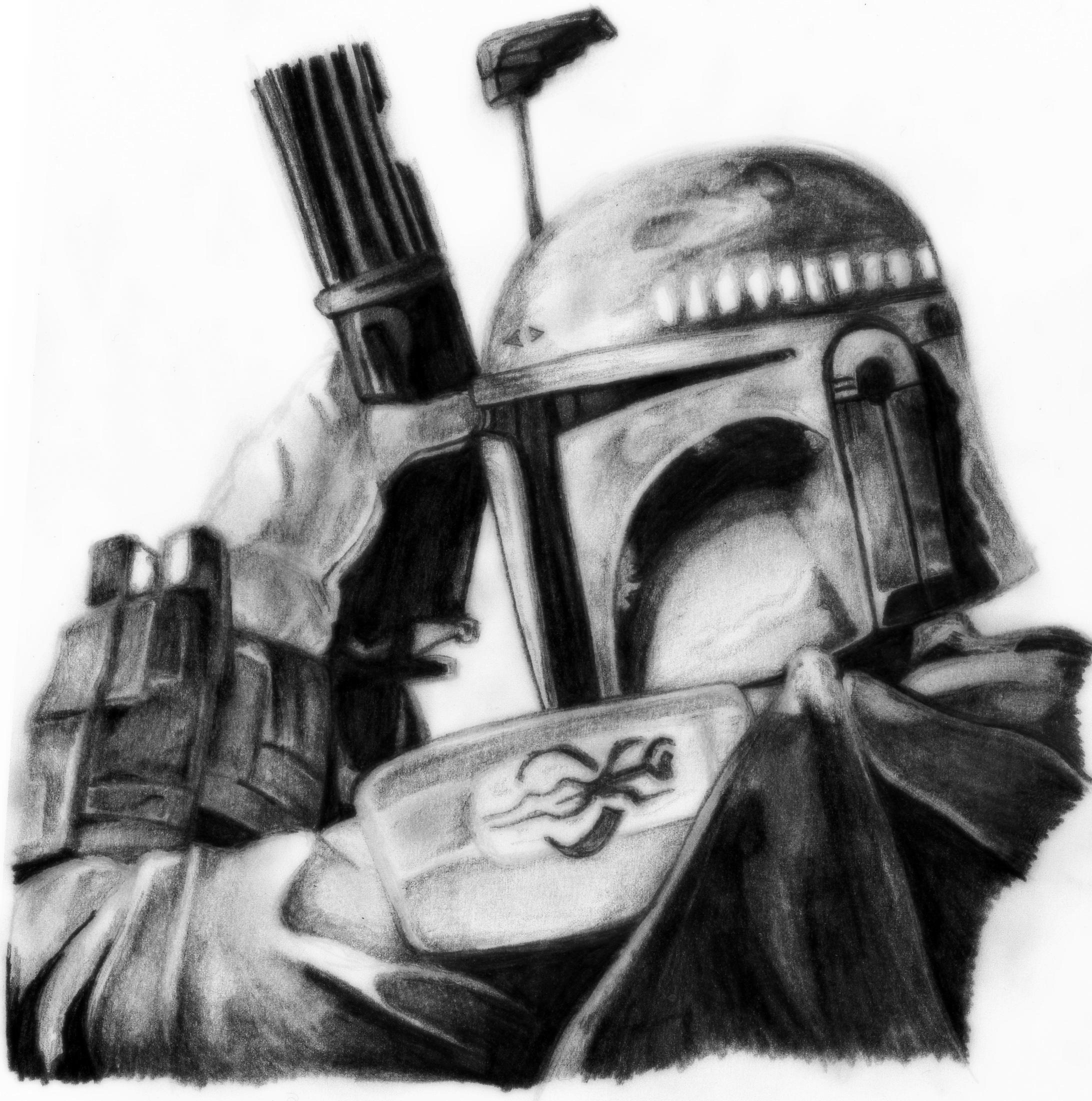 Drawn star wars boba fett Deathlouis by by Wars Fett