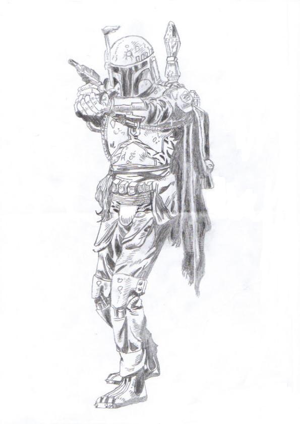 Drawn star wars boba fett By Wars by DeviantArt Fett
