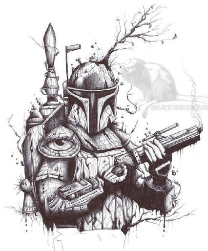 Drawn star wars boba fett Images Wars Pinterest best