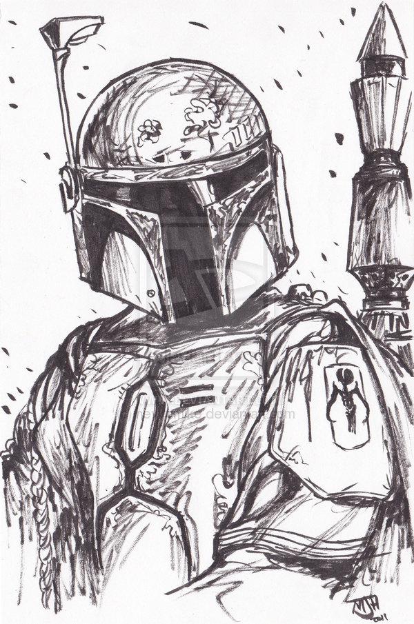 Drawn star wars boba fett By Fett Boba Star Wars