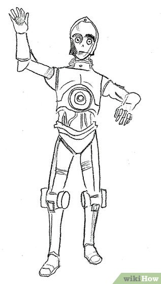 Drawn star wars c3po 3Po from from Image How
