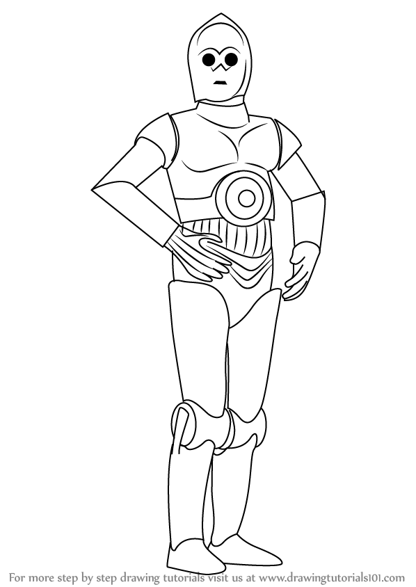 Drawn star wars c3po 3PO  from from How