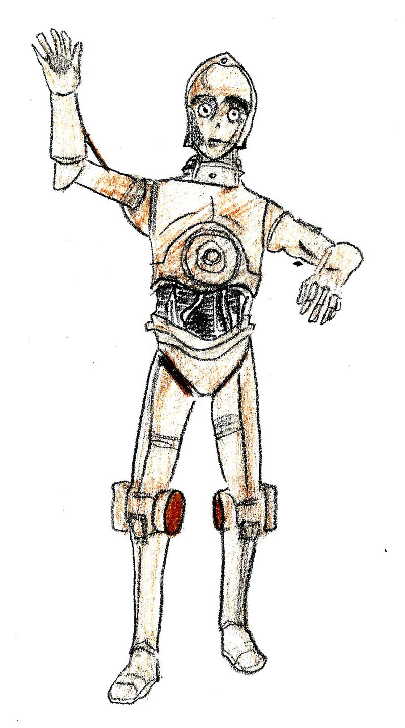 Drawn star wars c3po C‐3PO from  (with 8