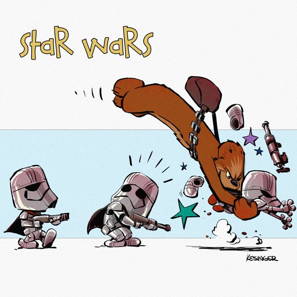 Drawn star wars calvin and hobbes Brian and Brian and in
