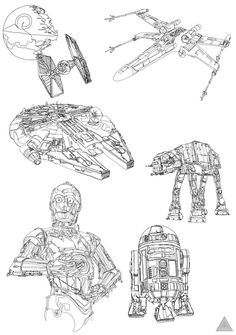 Drawn star wars continuous line Can Star Drawings is Line