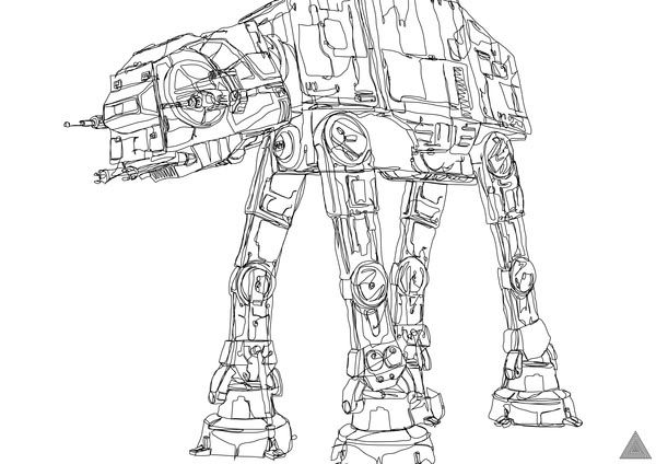 Drawn star wars continuous line Wars Star Awesome drawing drawing