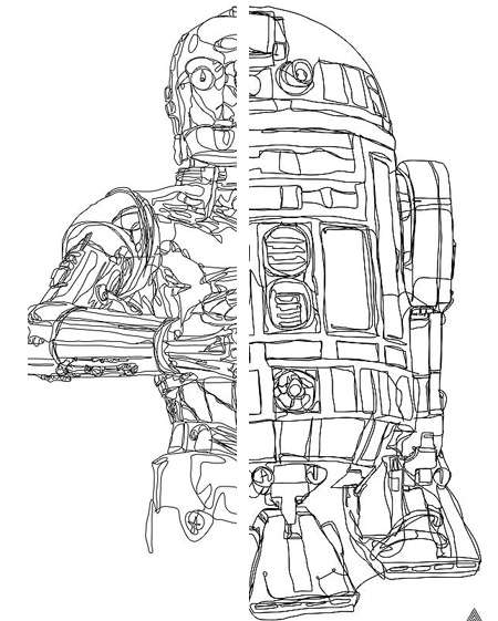 Drawn star wars continuous line Line Drawings Line 5 TechEBlog
