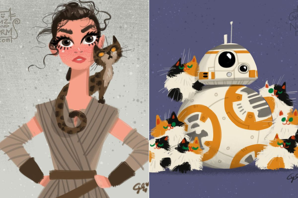 Drawn star wars disney Disney Grizandnorm characters Star Wars