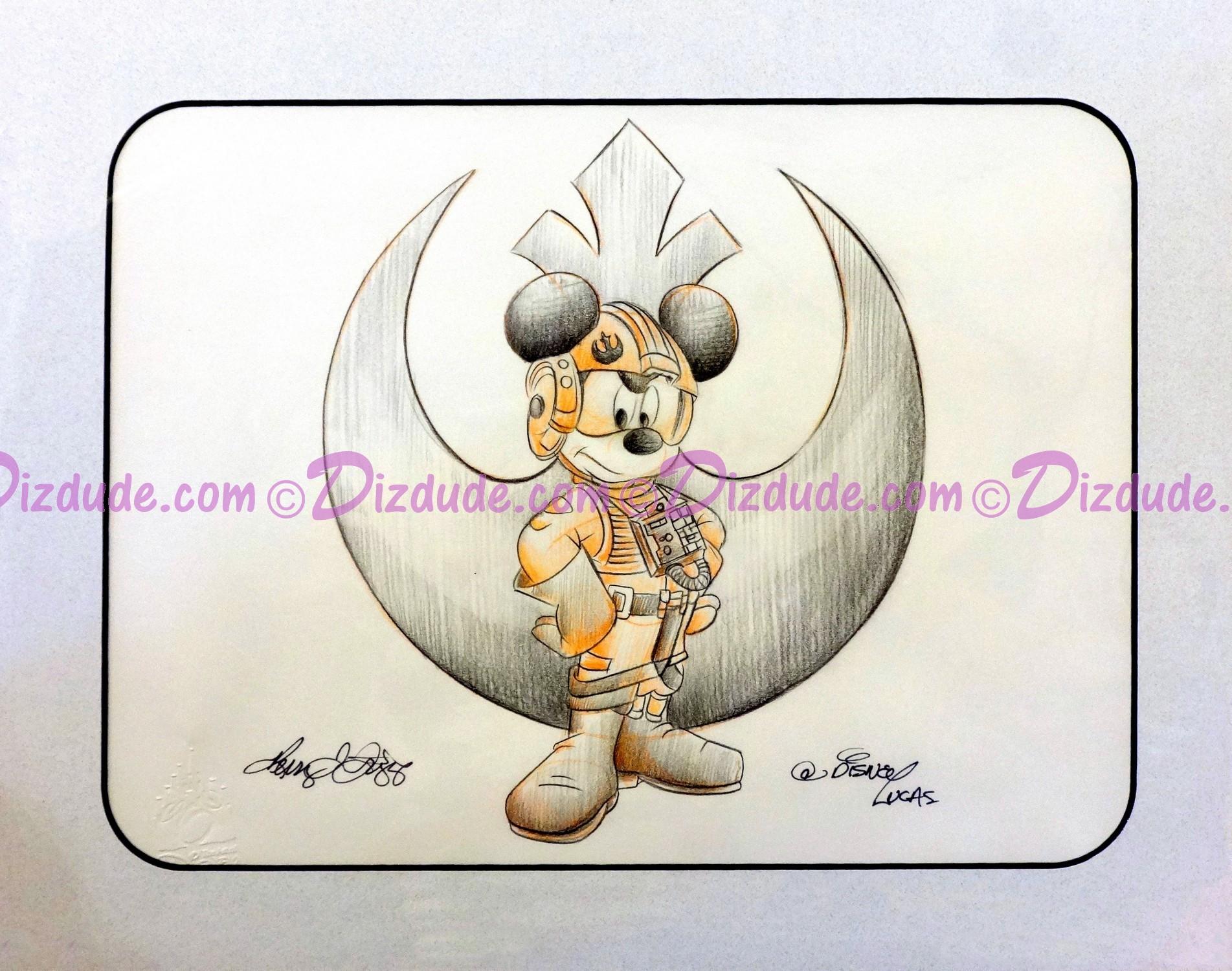 Drawn star wars disney Wars Mickey Drawn Pilot DIZDUDE