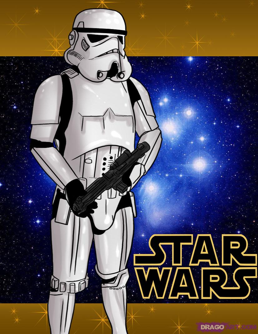 Drawn star wars full body Step to by Wars to
