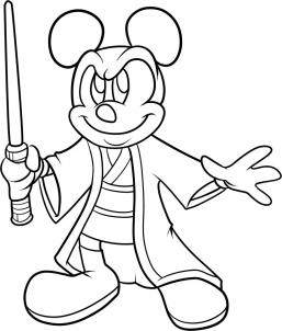 Drawn star wars head Mickey mickey great Lets color