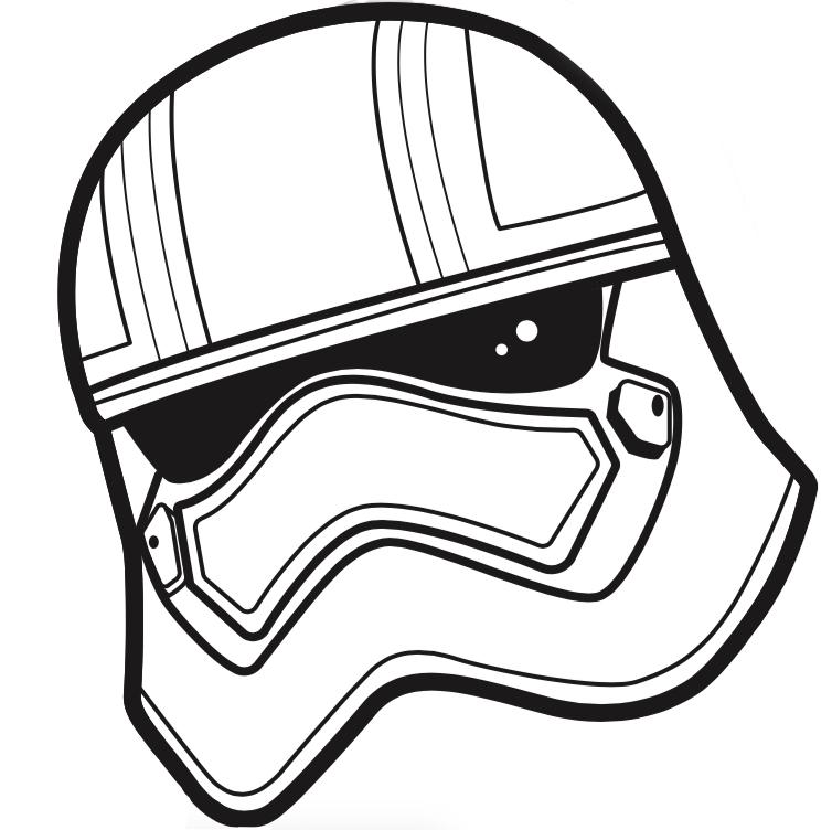 Drawn star wars helmet Stormtrooper Stormtrooper  template Painting