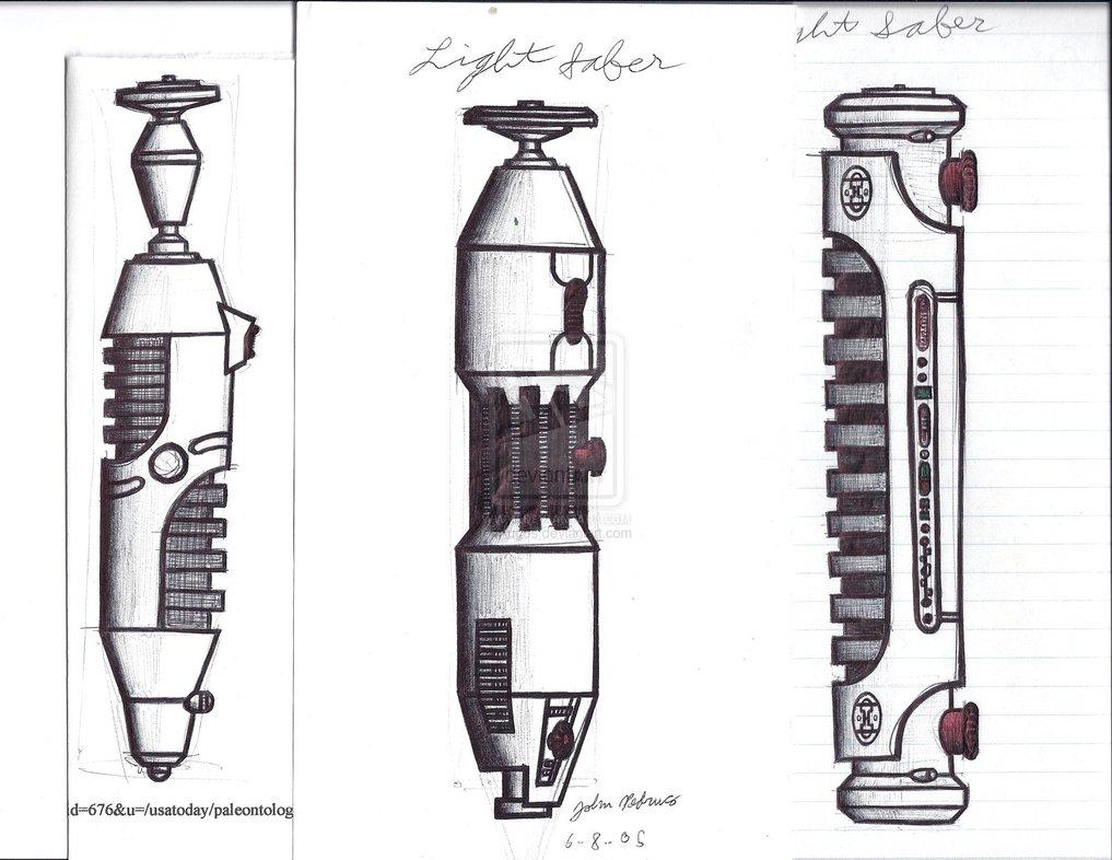 Drawn star wars lightsaber Lightsaber Sketches Hilt klejonka Wars