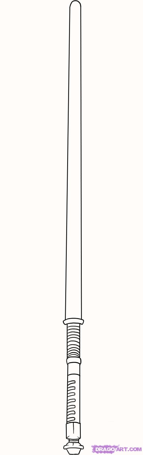 Drawn star wars lightsaber To by Draw Step a