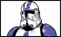 Drawn star wars trooper The wore faces  Clone