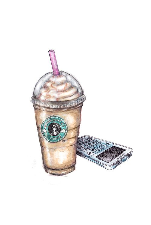 Drawn starbucks #8