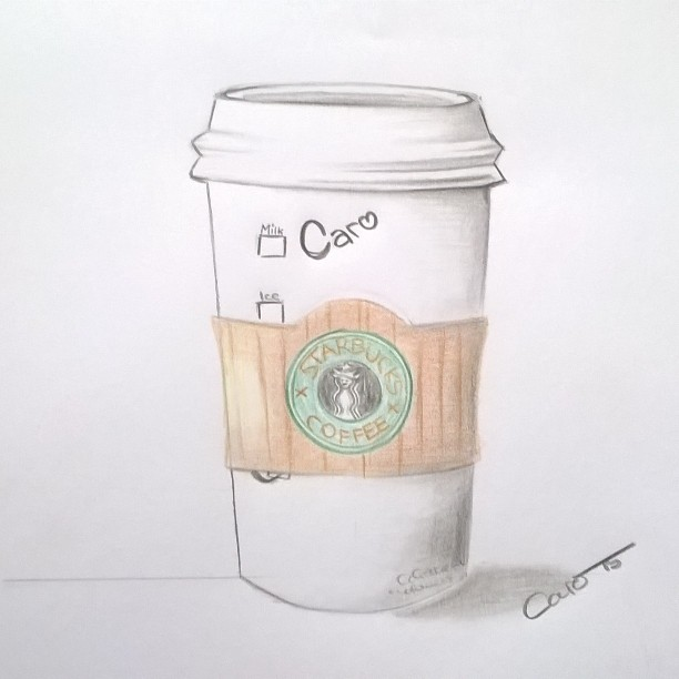 Drawn starbucks #12