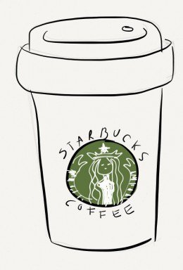 Drawn starbucks #15