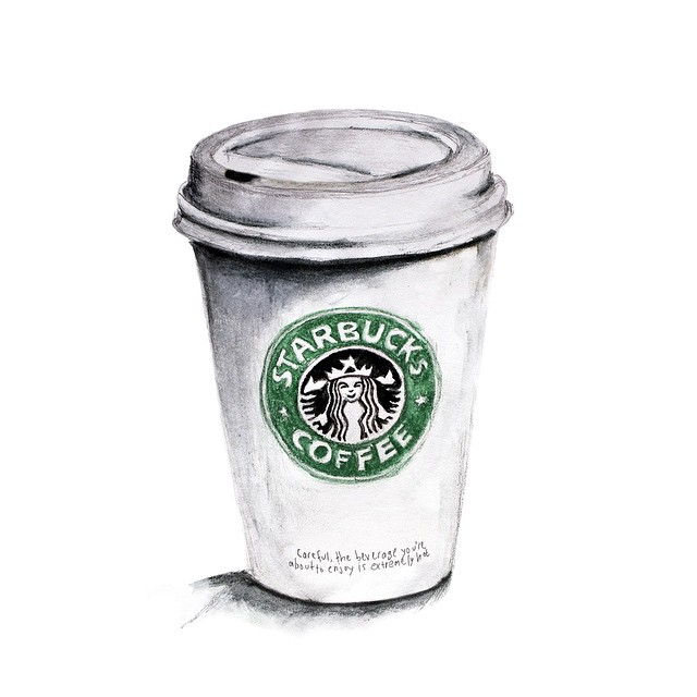 Drawn starbucks #9