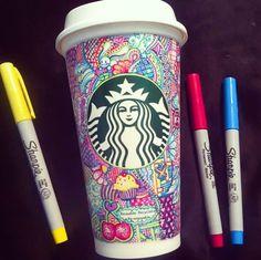 Drawn starbucks cofee #design Cup Coffee Design Drawing